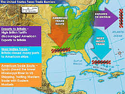 1784 - Spain closed lower Mississippi River to American Western Settlers