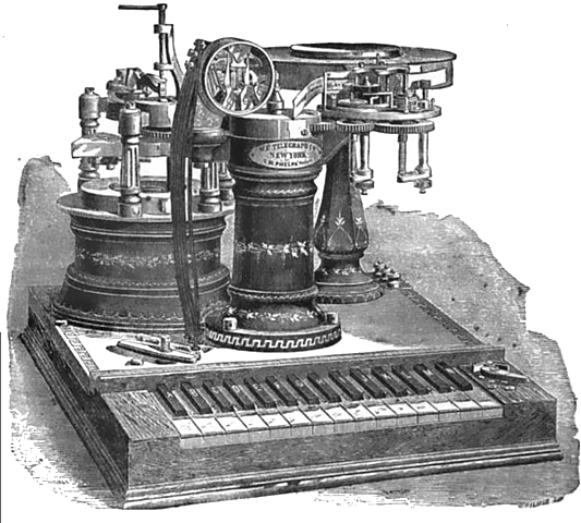 The Telegraph being Invented