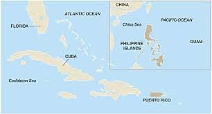 The United States annexes Guam, the Philippines, and Puerto Rico.