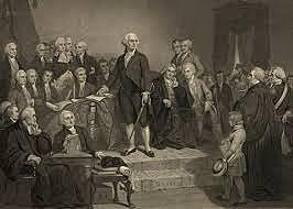 George Washington inaugurated as President of the United States