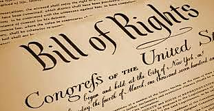 The Bill of Rights is ratified by 3/4th of the states