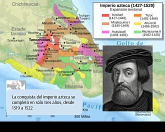 Se completa la conquista del Imperio azteca