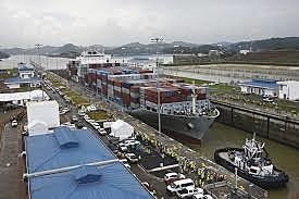 The Panama Canal opens for business