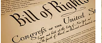 The Bill of Rights is ratified by 3/4ths of the states