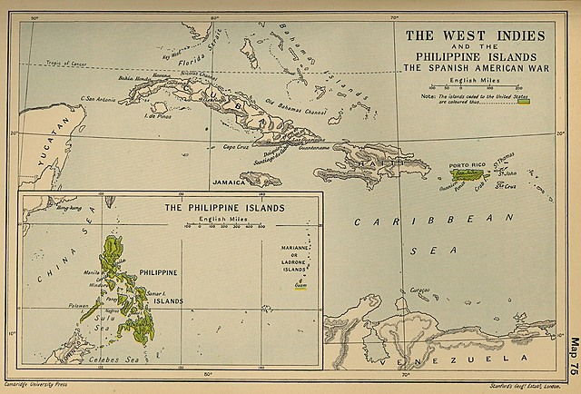 The United States annexes Guam, the Philippines, and Puerto Rico