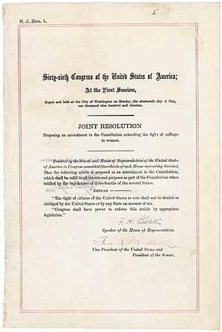The Nineteenth Amendment