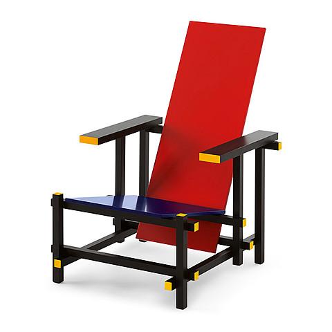 Sillon rojo y azul de Gerrit Thomas Rietveld