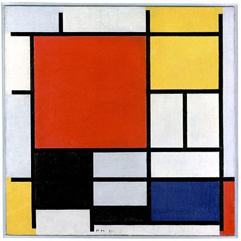 Composición rojo amarillo y azul de Piet Mondrian