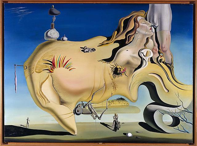 Visage du Grand Masturbeur de Dalí