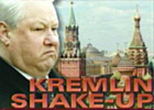 Russian President Boris Yeltsin fires his Prime Minister