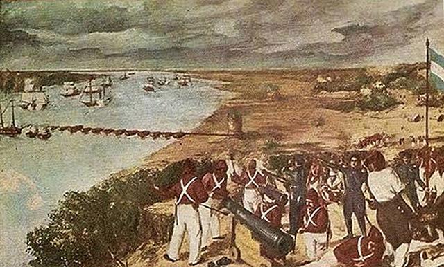 Juan Manuel de Rosas bloquea montevideo y entra en conflicto con Gran Bretaña y Francia