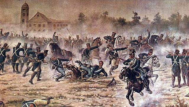 Juan Manuel de Rosas pierde la batalla de caseros