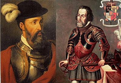 Hernán Cortes y Francisco Pizarro