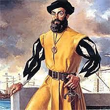 Ferdinand Magellan and his crew sail around the world from 1519-1522.