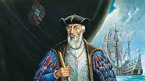 Vasco da Gama sails to India and back.