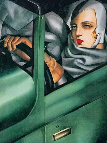 Tamara de Lempika, Autorretrato en Bugatti verde