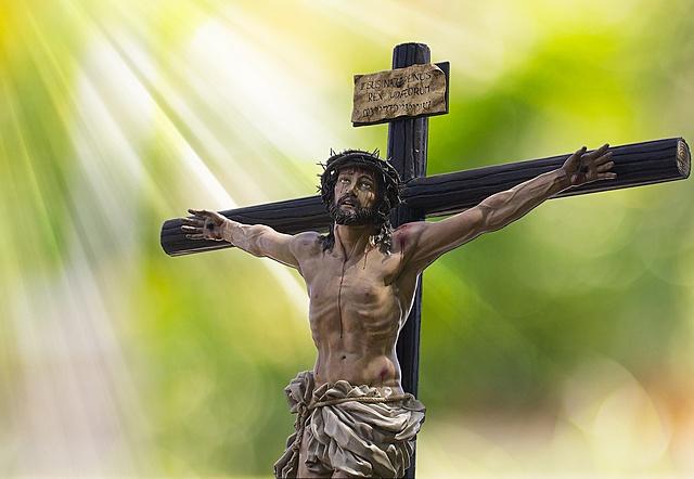 Jesus dör på korset och återuppstår