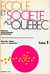 Livre École et société au Québec de Rocher et Bélanger