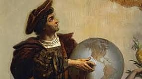 Columbus sails to the New World.