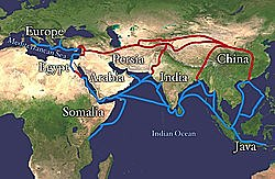 Turkish Empire cuts off the land route for spices from Asia to Europe. Search for sea route begins.
