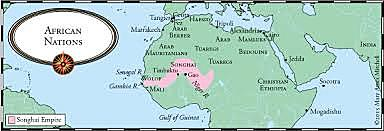 The Portuguese reach Cape Verde and the Gambia River.