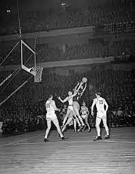 The first college basketball game