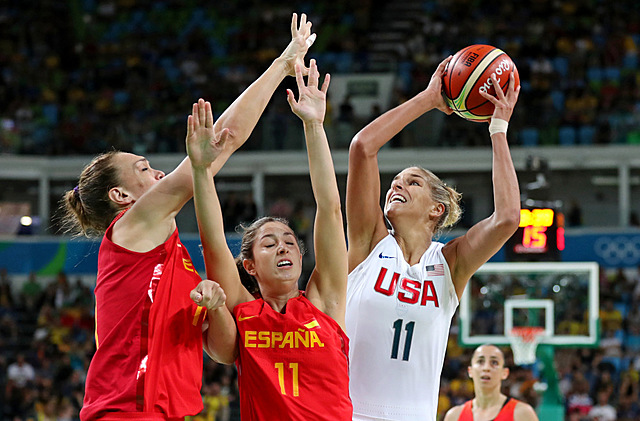 Women basketball is introduced to the Olympics.