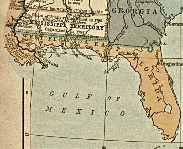 Spain gives Florida to US