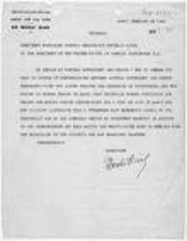 Geneva Accord divides Vietnam in half at the 27th Parallel