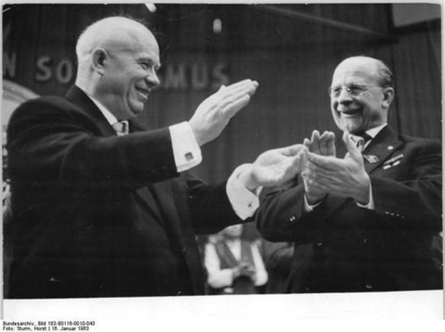 Nikita Khrushchev and Walter Ulbricht