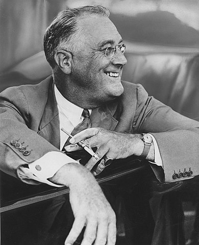 Franklin D. Roosevelt is elected as president.