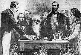 Samuel Morse sends the first telegraph message.