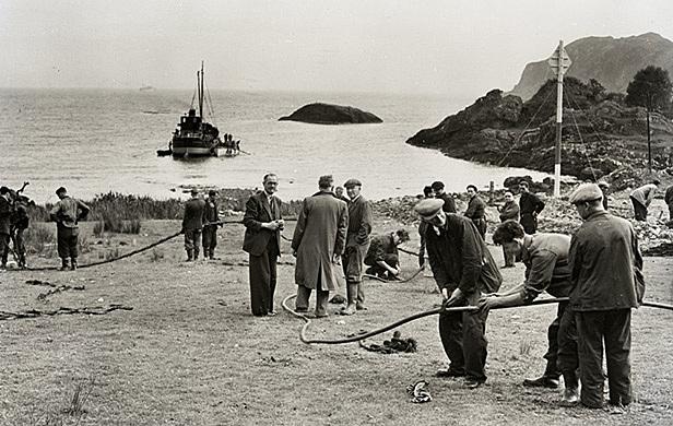 First Transatlantic telephone cable