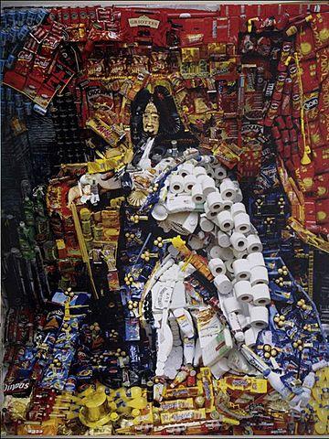 Prof - Le recyclage / Bernard Pras - Louis XIV - Inventaire 44 (tirage photographique sur aluminium, 180 x 230 cm)