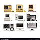 Computers set pc evolution from obsolete to vector 21565120