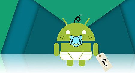 Primera versión beta pública de Android.