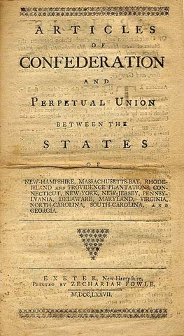 Ratifications of the Articles of Confederation