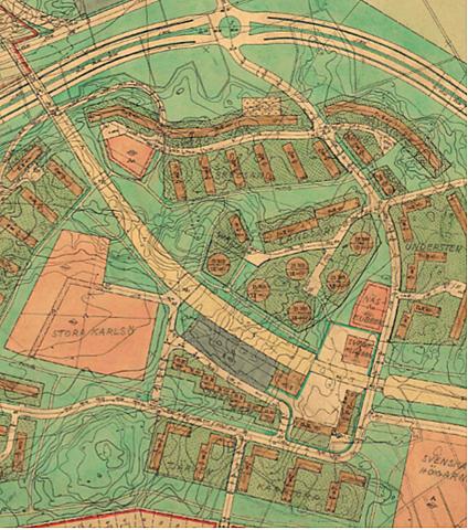 Första förslaget till stadsplan