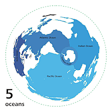 Earth is dominated by ocean