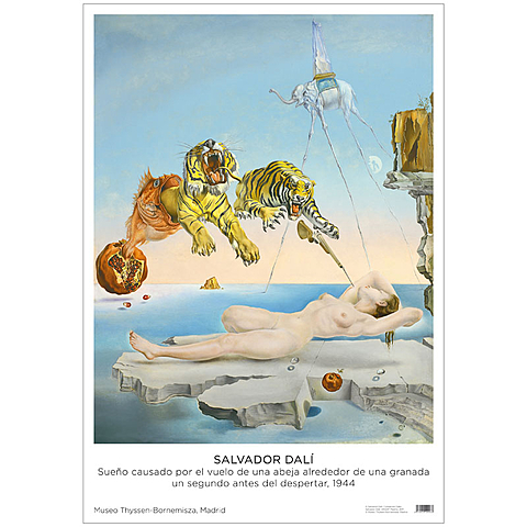 Sueño causado por el vuelo de una abeja alrededor de una granada un segundo antes del despertar
