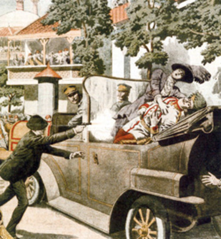 The assissination of the archduke franz ferdin and his wife