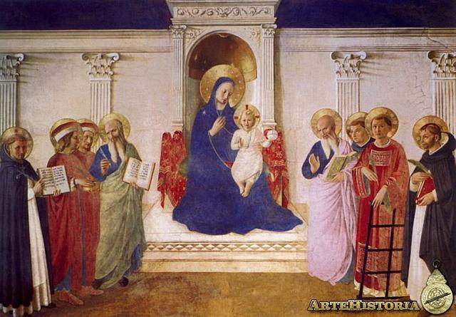"""""""Sacra Conversazione"""" (Virgen de las sombras) - Fra Angelico"""