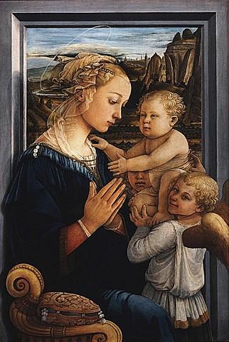 Virgen con niño y dos ángeles - Filippo Lippi