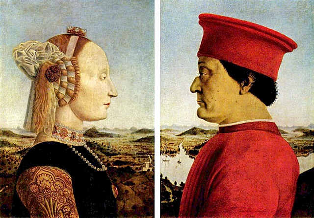 Retrato de Federico Montefelto y su esposa - Franceca