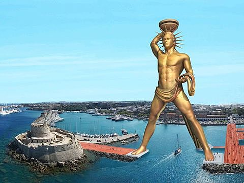 Greece: Colossus of Rhodes built