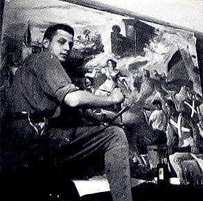 Estudia pintura en la escuela Massana en Barcelona