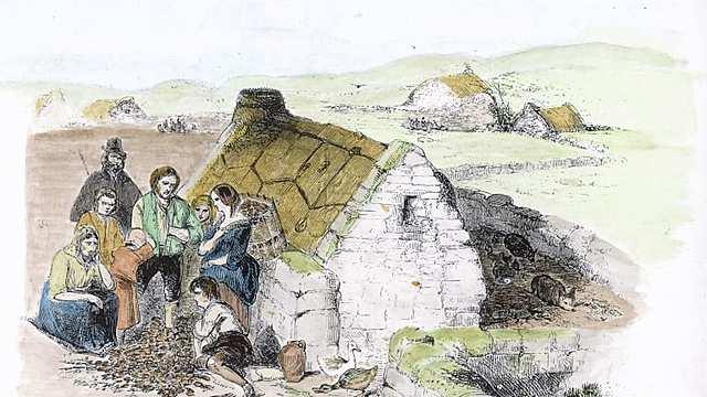 The Irish Potato Famine leads to mass emigration