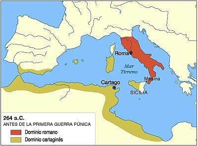 Les guerres entre Roma i Cartago.