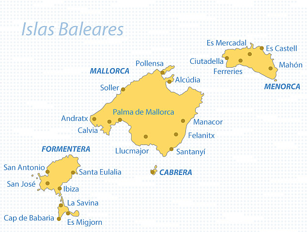 El domini romà de les Balears.