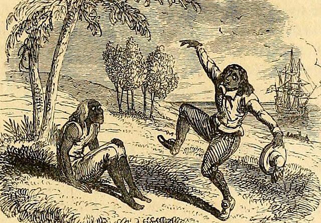 """Robinson Crusoe""; Daniel Defoe"